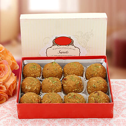 Gesture of Affection-500 grams pack of the most delicious Besan Laddoos:Teej Gifts