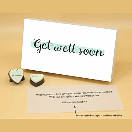 Get Well Soon Personalised Chocolate Box online