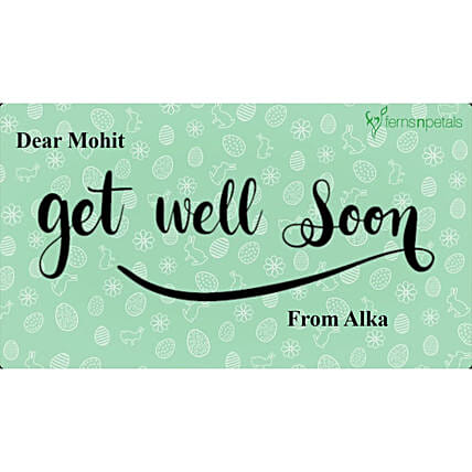 Get Well Soon Personalised Video- For Him