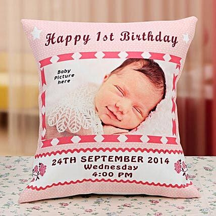 Gift for the Angel Personalized Cushion:1st Birthday Gifts
