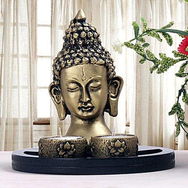 Buddha head showpiece