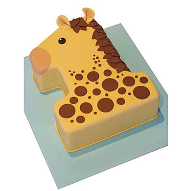 Giraffe Delight Cake 2kg Chocolate   Gift number 1 Birthday Cake 2kg Chocolate - Ferns N Petals