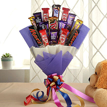 Chocolate Bar Bouquet chocolates:Buy Cadbury Chocolates