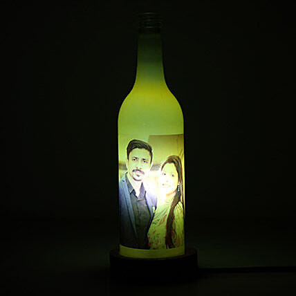Glow Your Memory Personalized Lamp-1 yellow coloured:Personalised Gifts Barshi