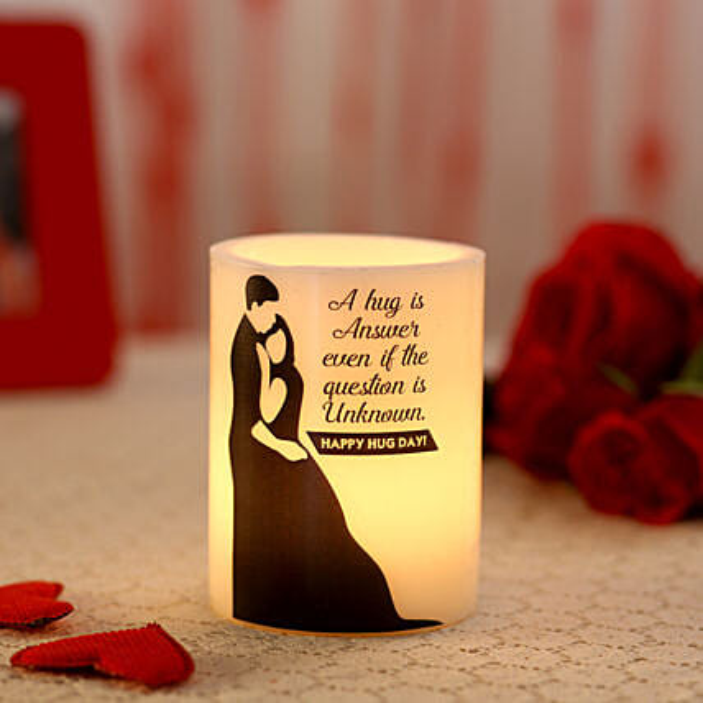 Attractive light candle for hug day:Hug Day Gifts