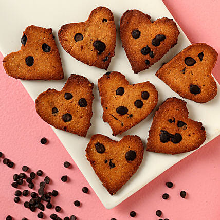 Gluten Sugar Free Heart Chocochip FITcookies