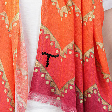 Online Gold and Orange Customised Scarf:Apparel Gifts