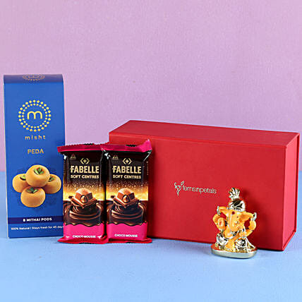 diwali surprise treats with ganesha idol