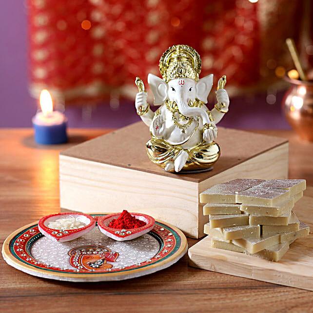 complete diwali pooja thali hamper online