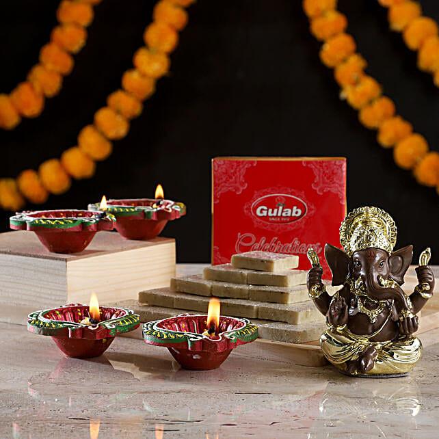 Online Ganesha Idol & Sweets