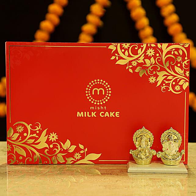 Online Laxmi Ganesha & Milk Cake