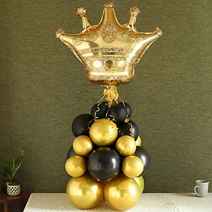 Golden Crown Balloon Bouquet