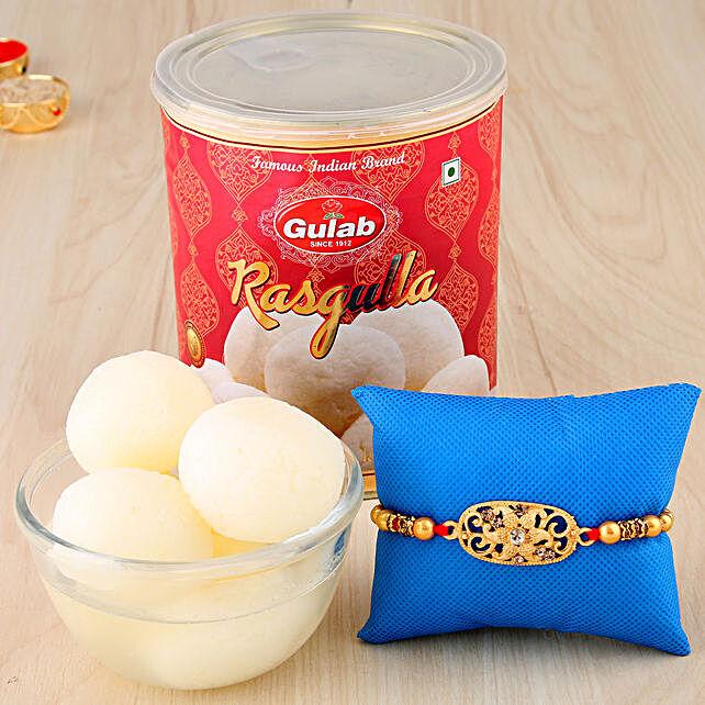 Golden Designer Rakhi Combo