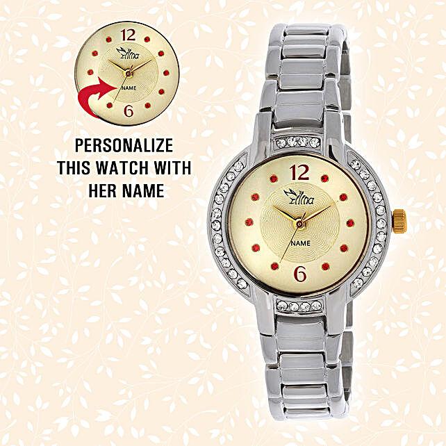 Golden Dial Personalsied Watch