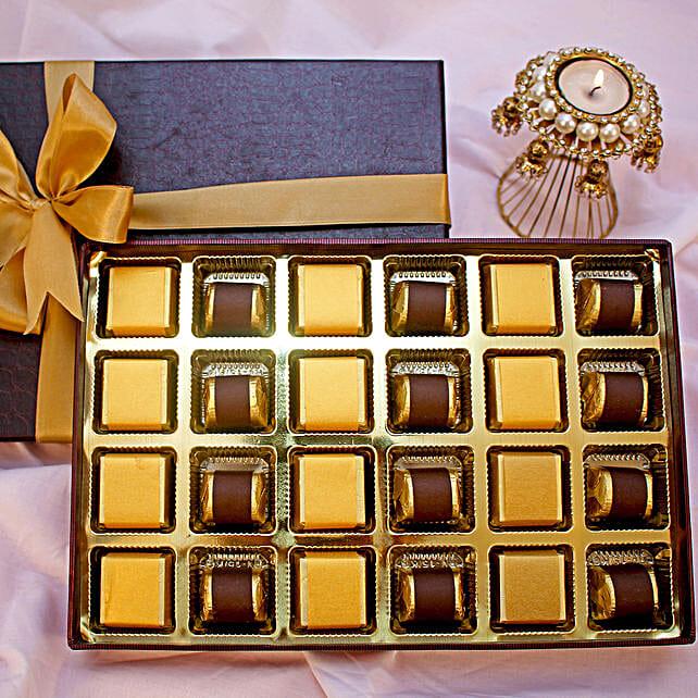 Golden Diwali Chocolates Box