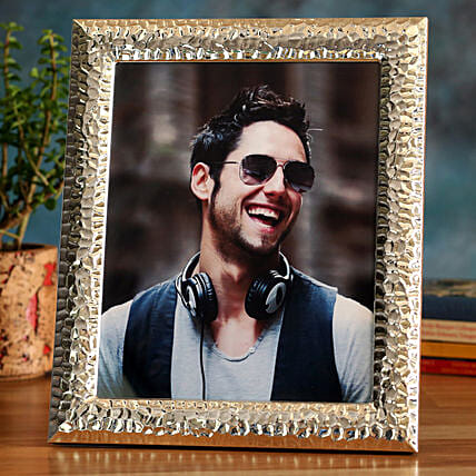 Online Golden Personalised Photo Frame:Photo Frames for Fathers Day