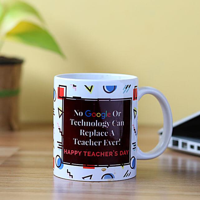 Printed mug for teacher on teachers day online:Teachers Day Gifts