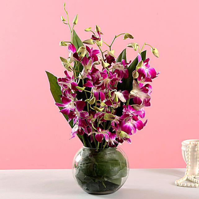 Online Orchid Arrangement:Flowers for Birthday