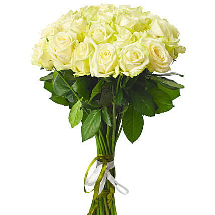 Gracious White Rose Bouquet