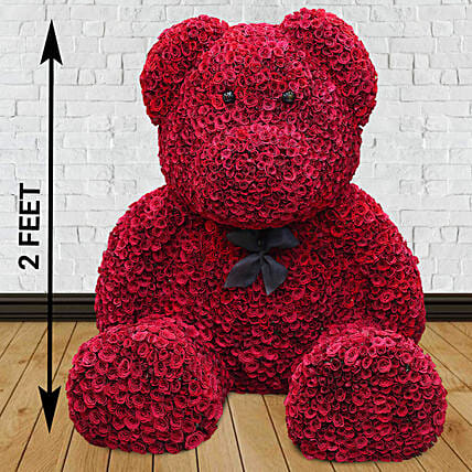 Online Red Rose Teddy