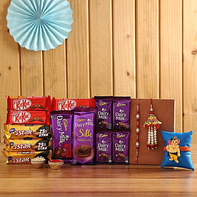 Rakhi & Chocolate Combo For Family