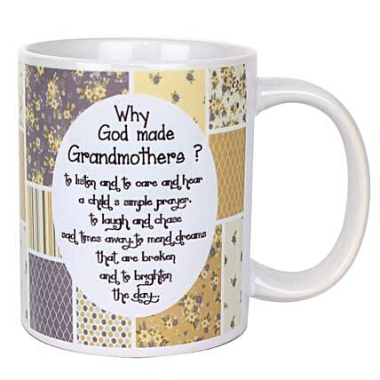 Grandmothers Printed Mug-Printed Mug with message,Why God Made Grandmothers:Grandparents Day Mugs