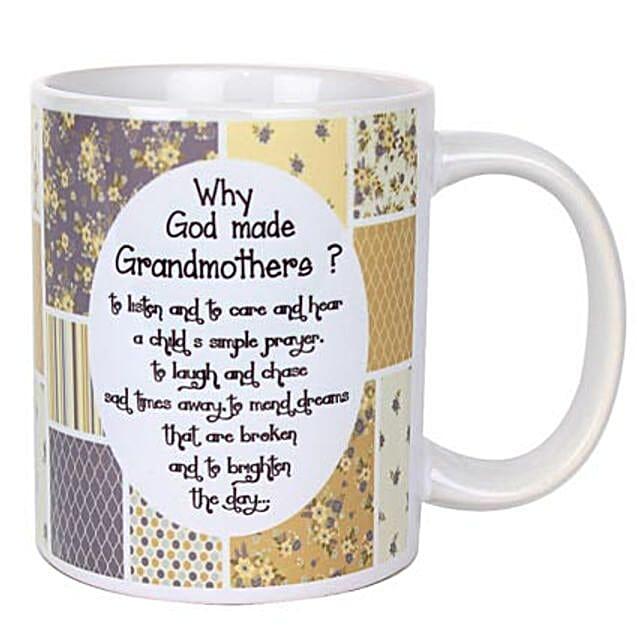 Grandmothers Printed Mug-Printed Mug with message,Why God Made Grandmothers