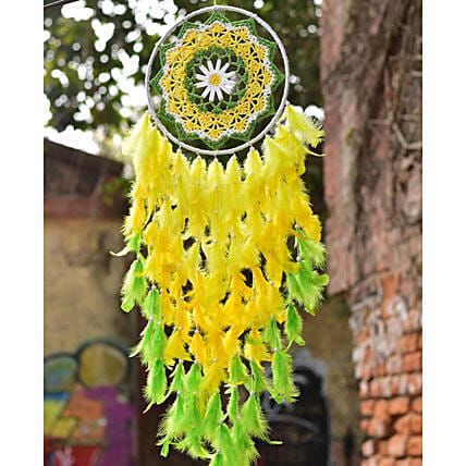 flower dreamcatcher decor