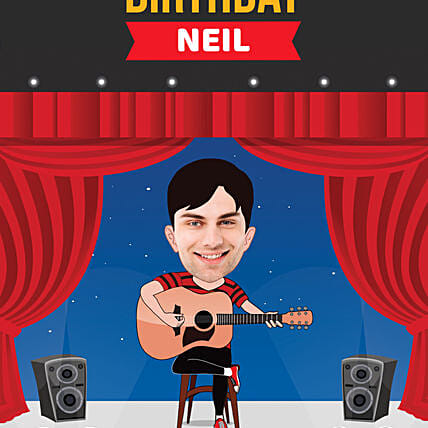 funny birthday caricature for him online
