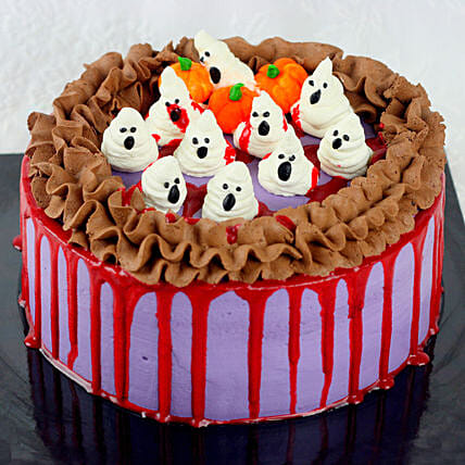 Halloween Theme Chocolate Cake:Halloween Gifts