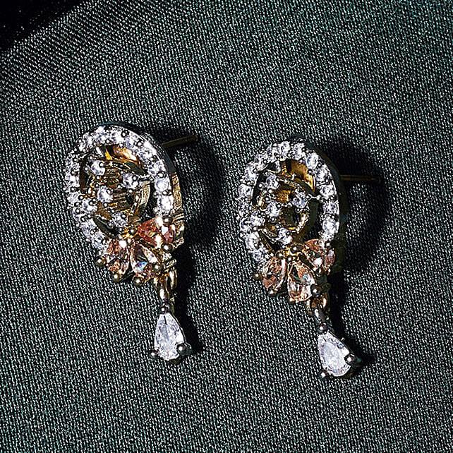American Diamond Oval Earrings Online