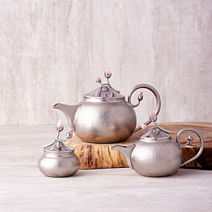 Online Handcrafted Steel Teac Set