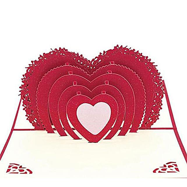 3D Heart Greeting Card