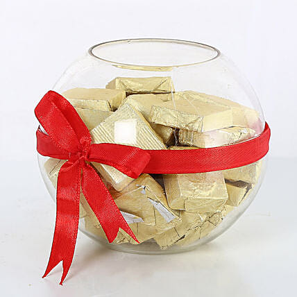 Handmade Chocolates wrapped with red ribbon chocolates choclates:Handmade Chocolate Box