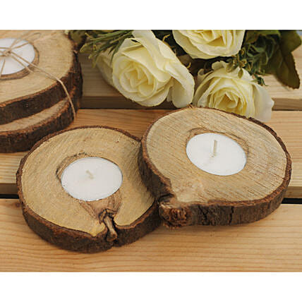 Diwali Wooden Candle Online