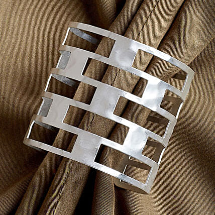 Silver Wirst Cuff Bracelet for Women