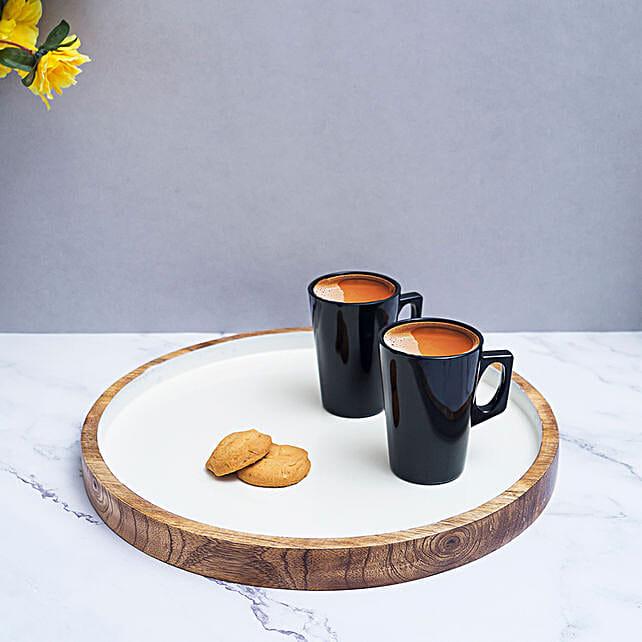 Handmade Wooden Serving Tray:Send Home Decor for Wedding