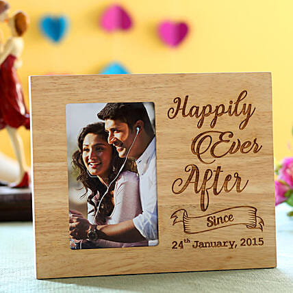 best wooden photo frame with engrave message online:Marriage Gifts