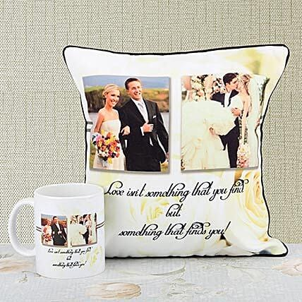Personalised Cushions With Mug:Personalised Mugs for Wedding
