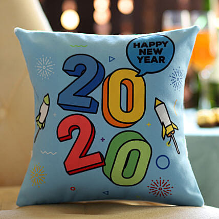 Quirky New Year Printed Cushion Online