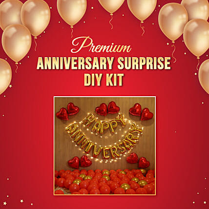 Happy Anniversary Premium Balloon Kit For Couple