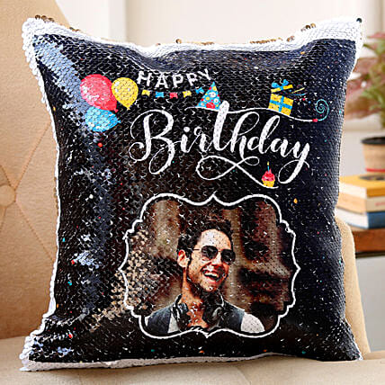 sequin cushion for birthday