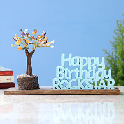 Happy Birthday Rockstar Table Top and Wish Tree:All Gifts