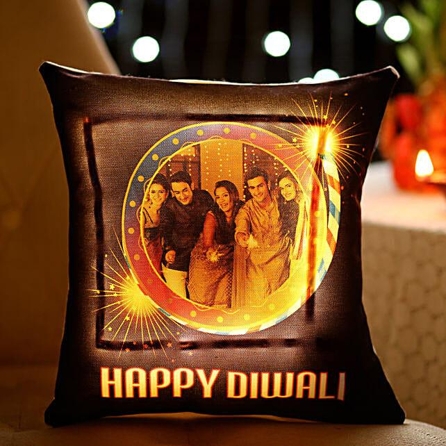 Diwali LED Cushion for Family