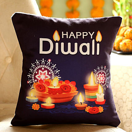 Happy Diwali Printed Cushion Online