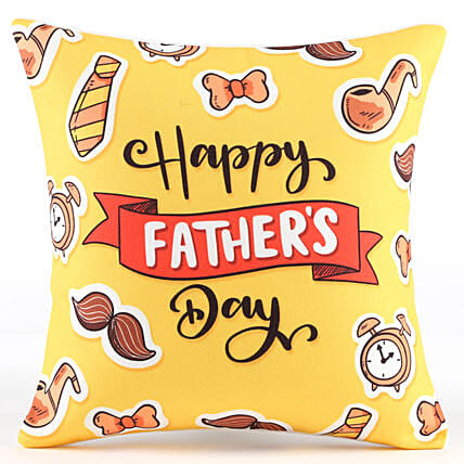 Yellow Cushion for Fathers Day