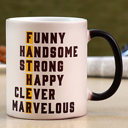 Happy Father's Day Ceramic Magic Mug- Hand Delivery:Mugs for Fathers Day