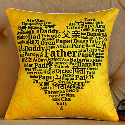 Happy Father's Day Printed Cushion- Hand Delivery:Personalised Cushions for Fathers Day