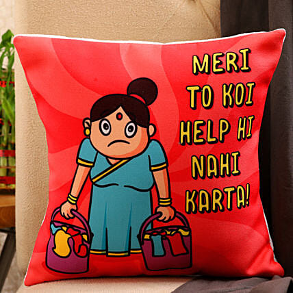 Happy Mother Day Printed Cushion