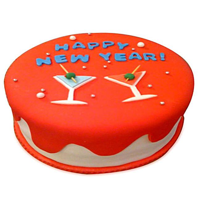 Happy New Year Cake 2kg Eggless